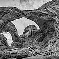 Double Arches Bw by Michael Ver Sprill