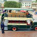 Double Decker Bus Main Street Disneyland 02 by Thomas Woolworth