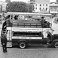Double Decker Bus Main Street Disneyland Bw by Thomas Woolworth