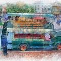 Double Decker Bus Main Street Disneyland Photo Art 01 by Thomas Woolworth