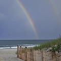 Double Rainbow Beach Seaside Park Nj by Terry DeLuco