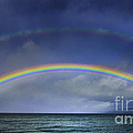 Double Rainbow Over Lake Tahoe by Mitch Shindelbower