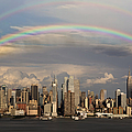 Double Rainbow Over Nyc by Susan Candelario