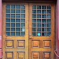 Double Wood Door Iceland by Paula Deutz