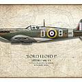 Douglas Bader Spitfire - Map Background by Craig Tinder