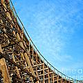 Down A Wooden Roller Coaster Ride by Sylvie Bouchard