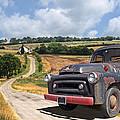 Down On The Farm - International Harvester S-100 by Gill Billington