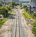 Down The Tracks - Downtown Miami by Ian Monk