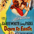 Down To Earth, Us Poster Art, From Left by Everett