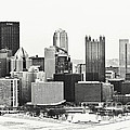 Cold Winter Day In Pittsburgh Pennsylvania by Sharon Dominick