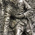 Downed.  State Of Delaware Monument Detail-d Gettysburg Autumn Mid-day. by Michael Mazaika