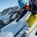 Downhill Skiier In Portillo, Chile by Gabe Rogel