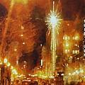 Downtown 6th St Seattle In Dec by Janice MacLellan