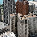 Downtown Aerial Of Detroit Michigan by Bill Cobb