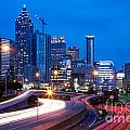 Downtown Atlanta At Dusk by Bill Cobb