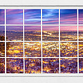 Downtown Boulder Colorado City Lights Sunrise  Window View 8lg by James BO Insogna