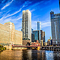Downtown Chicago At Franklin Street Bridge Picture by Paul Velgos