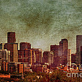 Downtown Denver Antiqued Postcard by Janice Pariza