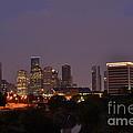Downtown Houston Before Fireworks by Aaron Edrington