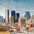 Downtown Houston Panorama by Silvio Ligutti