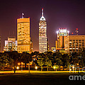 Downtown Indianapolis Skyline At Night Picture by Paul Velgos