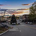 Downtown Ipswich Sunset by David Stone