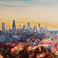 Downtown Los Angeles At Dusk by M Bleichner
