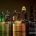 Downtown Louisville Kentucky Skyline Night Shot by Bill Cobb