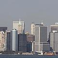 Downtown Manhattan Shot From The Staten Island Ferry by John Telfer