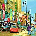 Downtown Montreal Eatons Centre Complex Les Ailes Old Navy Rue Mcgill College City Scenes  C Spandau by Carole Spandau