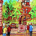 Downtown Montreal Mcgill University Streetscenes by Carole Spandau