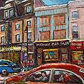 Downtown Montreal Streetscene by Carole Spandau
