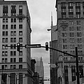 Downtown Nashville In Black And White by Dan Sproul
