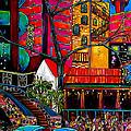 Downtown On The River by Patti Schermerhorn