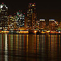Downtown San Diego At Night From Harbor Drive by Nathan Rupert