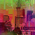 Downtown Seattle Cubed 1 by Tim Allen
