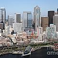 Downtown Seattle Washington City Skyline by Bill Cobb
