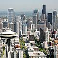 Downtown Skyline Of Seattle by Bill Cobb