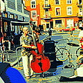 Downtown Street Musicians Perform At The Coffee Shop With Cool Tones On A Hot Summer Day by Carole Spandau