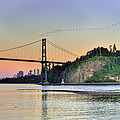 Downtown Vancouver And Lions Gate Bridge At Twilight by Eti Reid