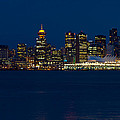 Downtown Vancouver At Night  by Eti Reid