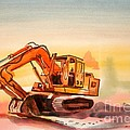 Dozer In Watercolor  by Kip DeVore