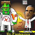 Dr. Frankenstein Shocks Monster by Dan Youra