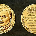 Dr Martin Luther King Jr And Coretta Scott King Bronze Medal Art by Movie Poster Prints