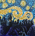 Dr Who Hogwarts Starry Night by Jera Sky
