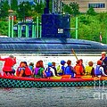 Dragon Boat Challenges Submarine  by Susan Garren
