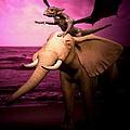 Dragon Riding Elephant by Tray Mead
