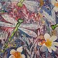 Dragonflies And Daisies by Kerralee Nelson