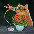 Dragonfly And Cat by Karen Zuk Rosenblatt