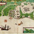 Drake's Attack On Cartagena by Library Of Congress, Rare Book And Special Collections Division